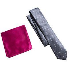 Men's Apt. 9® Patterned Skinny Tie & Pocket Square Set