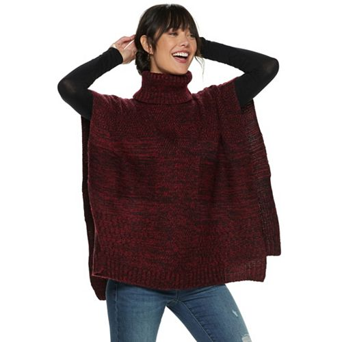 Women's Apt. 9® Cable Knit Patchwork Poncho by Apt. 9