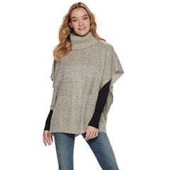 Women's Apt. 9® Cable-Knit Patchwork Poncho