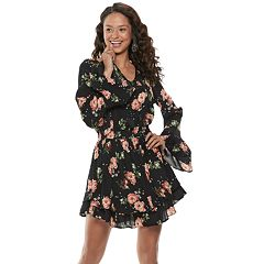 Juniors' American Rag Floral Tiered Peasant Dress