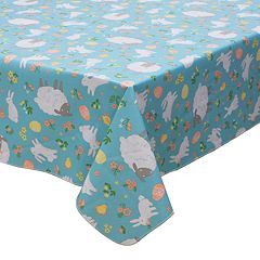 Celebrate Easter Together Vinyl Bunny Tablecloth
