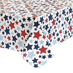 Celebrate Americana Together Vinyl Stars Tablecloth