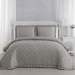 Melody Ruffled Quilt Set
