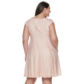 Plus Size Suite 7 Lace Fit & Flare Dress