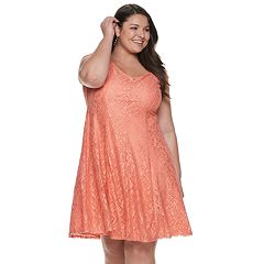 eb0d796cc61 Plus Size Suite 7 Lace Fit   Flare Dress