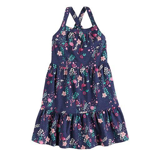 Girls 4-12 Jumping Beans® Printed Ruffle-Hem Dress