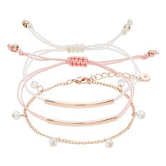 LC Lauren Conrad Beaded Bracelet Set