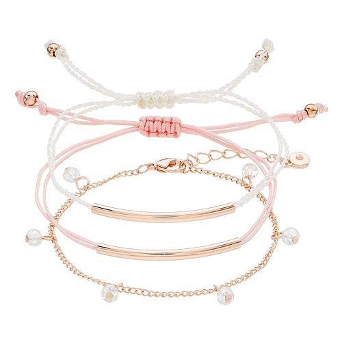 LC Lauren Conrad Beaded Bracelet Set