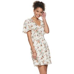 Juniors' Lily, Rose Cinched Waist Dress