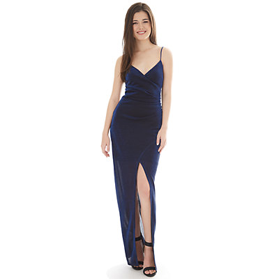 Juniors' IZ Byer Wrap Maxi Dress