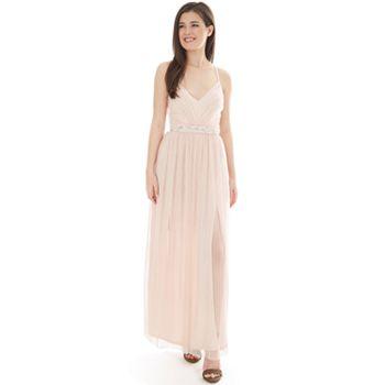 b64d85d0f Juniors' IZ Byer Double Slit Maxi Dress