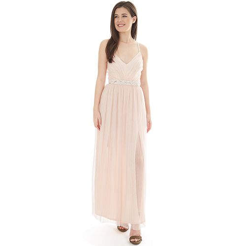 Juniors' IZ Byer Double Slit Maxi Dress
