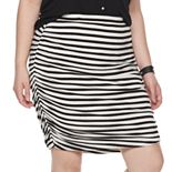 Juniors' Plus Size SO® Ruched Side Mini Skirt