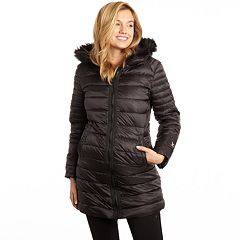 25d100bbe424 Women's Excelled Faux-Fur Hooded Puffer Coat