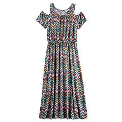 Girls 7-16 SO® Cold-Shoulder Maxi Dress