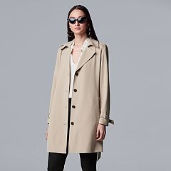 611ecb01afa Women s Simply Vera Vera Wang Sharkbite Trench Coat