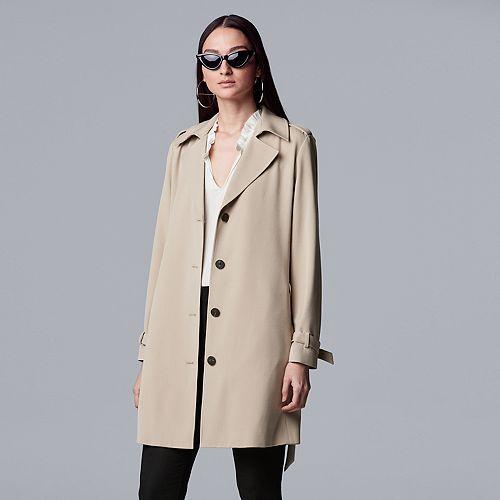 Women's Simply Vera Vera Wang Sharkbite Trench Coat
