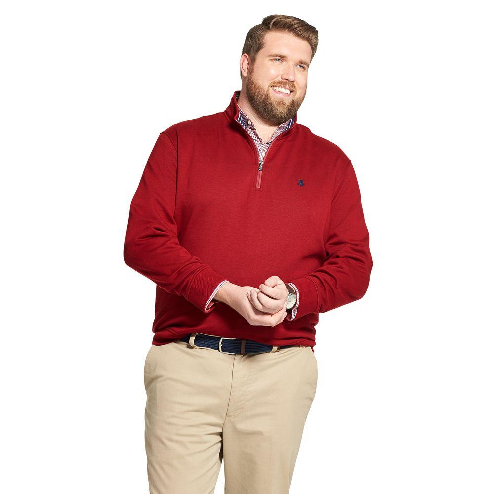 Big & Tall IZOD Advantage Performance Fleece Quarter-Zip Pullover