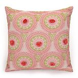 "JS Jessica Simpson Amrita Medallion Crochet Flowers Decorative Pillow - 16"" x 16"""