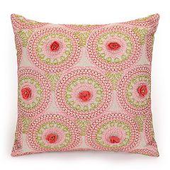 JS Jessica Simpson Amrita Medallion Crochet Flowers Decorative Pillow - 16' x 16'