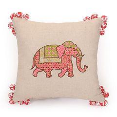 JS Jessica Simpson Amrita Medallion Pompom Decorative Pillow - 14' x 14'