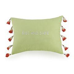 JS Jessica Simpson Watercolor Garden Rise & Shine Decorative Pillow