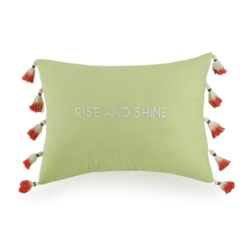 JS Jessica Simpson Watercolor Garden Rise & Shine Decorative Pillow