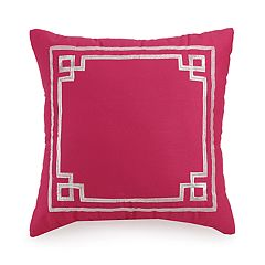 JS Jessica Simpson Watercolor Garden Frame Decorative Pillow - 16' x 16'