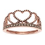 La Belle Vie Marcasite Heart Ring