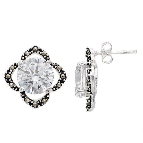 La Belle Vie Marcasite Stud Earrings