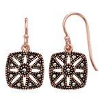 La Belle Vie Marcasite Square Drop Earrings