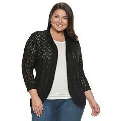 d98f18e4acb9d Womens Black Napa Valley Cardigan Sweaters - Tops