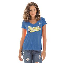 Women's New Era Milwaukee Brewers Slubbed Tee