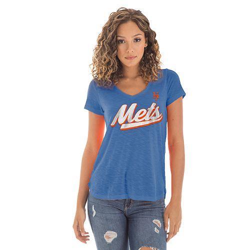 Women's New Era New York Mets Slubbed Tee