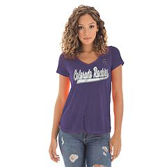 Women's New Era Colorado Rockies Slubbed Tee
