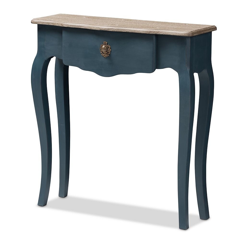 Baxton Studio Mazarine Dark Blue Console Table