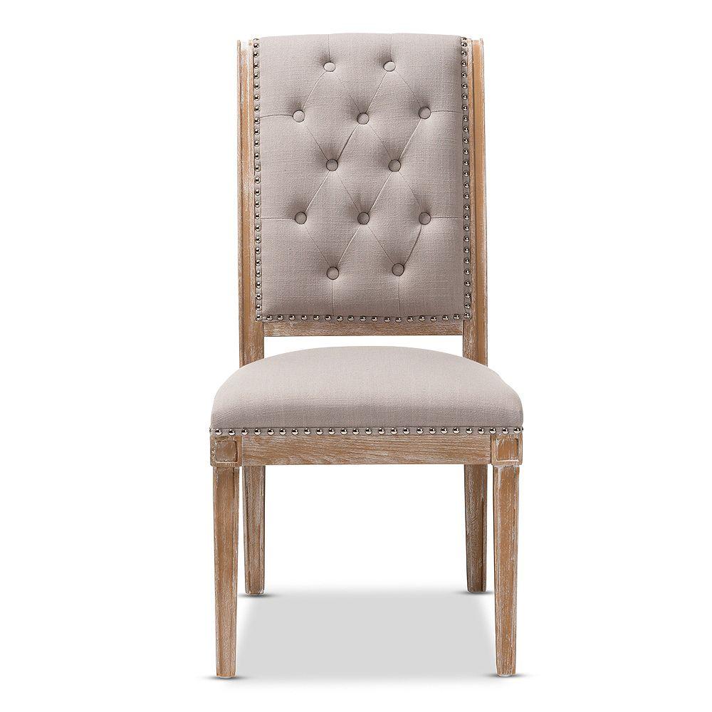 Baxton Studio Charmant Beige Dining Chair