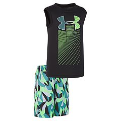 Boys 4-7 Under Armour Cache Rising Muscle Tee & Shorts Set