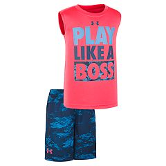 Boys 4-7 Under Armour 'Play Like A Boss' Muscle Tee & Shorts Set