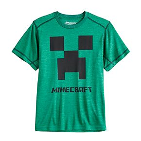 Boys 8-20 Minecraft Creeper Slub Tee