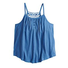 Girls 7-16 Mudd® Crochet Back Tank