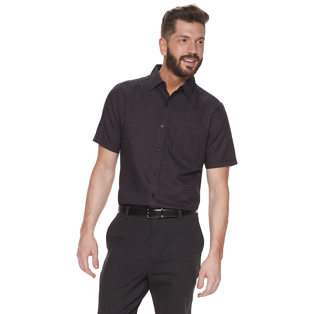 Men's Haggar® Textured Tuckless Button-Down Shirt