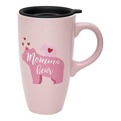 Enchante Pink Momma Bear Travel Mug