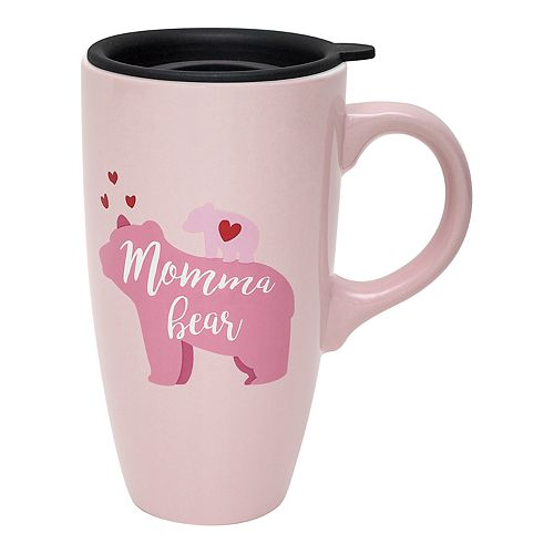 Enchante Pink Momma Bear Travel Mug