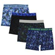 Boys 8-10 Jurassic World 4-Pack Cool Yarn Boxer Briefs