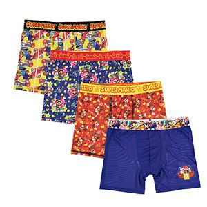 Boys 8-10 Super Mario Bros. 4-Pack Cool Yarn Boxer Briefs