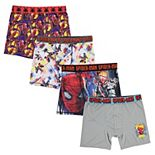 Boys 6-10 Spider-Man 4-Pack Boxer Briefs