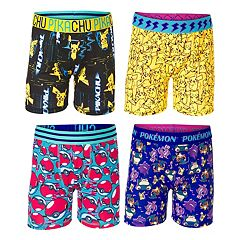 Boys 8-10 Pokemon 4-Pack Cool Yarn Boxer Briefs