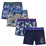 Boys 8-10 Star Wars 4-Pack Cool Yarn Boxer Briefs