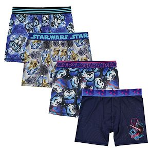 Boys 8-10 Star Wars 4-Pack Cool Yarn Boxer Briefs